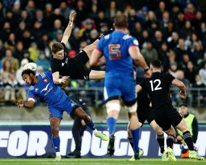 Beauden Barrett has been on the receiving end of 'grey area' tackles himself. Photo: Getty Images
