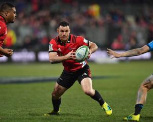 Ryan Crotty and the Crusaders will look to take advantage of a kind run to the final. Photo:...