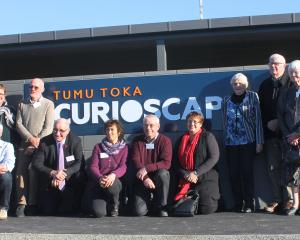 Current and former South Catlins Charitable Trust trustees celebrate the official opening of Tumu...