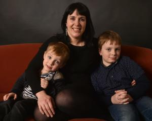 Dunedin woman Jane Adams with sons Daniel (left), conceived naturally, and Oliver, conceived via...