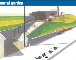 A concept plan for the proposed Archibald Baxter memorial garden, which has been approved by the...