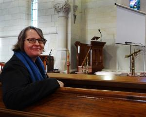 St Luke's Church vicar the Rev Andrea McDougall at the church, where discussions have been held...