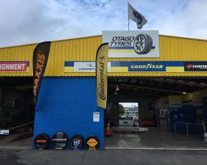 Otago Tyres has two handy locations, on St Andrew St (pictured) and on Hillside Rd.