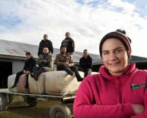 Alexandra shearer Pagan Karauria with members of a Dion Morrell Shearing gang Jack Simpson, Keri...