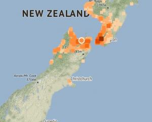 Around 8000 people have indicated they have felt the quake. Photo: Geonet
