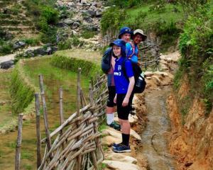 Tony's boys on trail from Sapa to Ta Van.