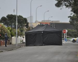 The man was found on Cowper St early today. Photo: Greymouth Star