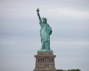 The Statue of Liberty is seen at New York Harbor in New York City. Photo: Reuters