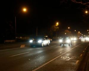 Traffic on Te Atau Road, near where where a pedestrian was fatally struck. Photo: NZ Herald