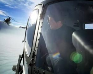 Tom Cruise flying over New Zealand's Southern Alps. Photo: Supplied via NZME