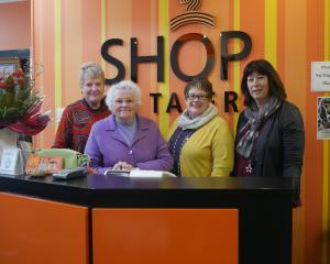 Shop on Taieri staff (from left) volunteer Elaine Mason, volunteer Mersailie Sayers, manager...