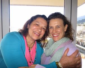 Queenstowner Maria De Souza, left, with Sandi Murphy.