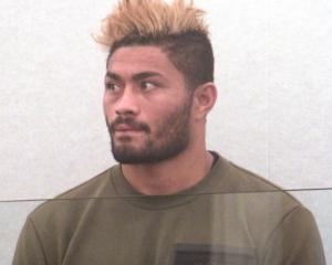 Amanaki Mafi appears at Dunedin District Court this morning. Photo: Rob Kidd