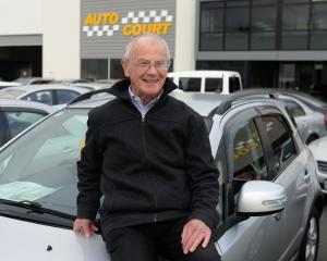 Marathon enthusiast Colin Dick at his workplace, Auto Court in South Dunedin. Photo: Linda Robertson