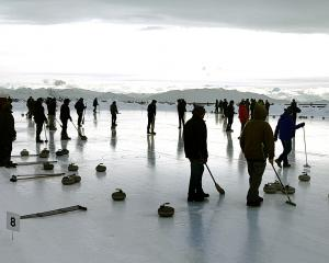 The Curling at Altitude event, hosted by the Cardrona Curling Club, at the Southern Hemisphere...
