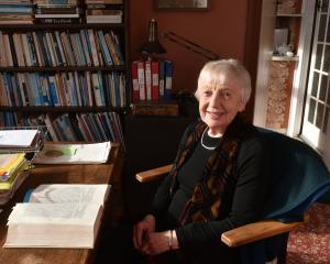 Historian Dorothy Page in her home office. Photo: Gregor Richardson