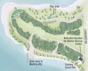 This concept development plan of Eely Point includes a new boat ramp and jetty, playground and...