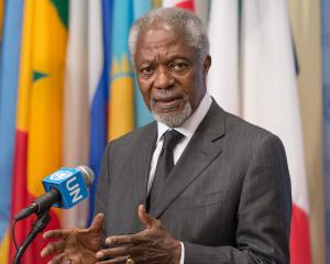 Former UN Secretary General Kofi Annan, speaking at the UN Headquarters in 2013. Photo: Getty Images