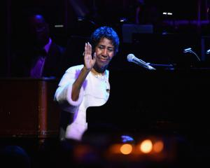 Aretha Franklin performs at the Elton John AIDS Foundation concert in New York in November last...