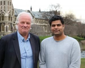 University of Otago's Dr John Guthrie (left) and PhD student Balkrushna Potdar. PHOTO: SUPPLIED