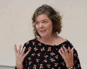 The Prime Minister's new chief science adviser Juliet Gerrard speaks at the University of Otago...