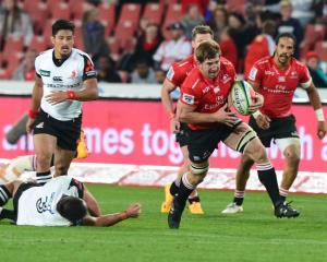 Kwagga Smith carries the ball for the Lions against the Sunwolves. Photo: Getty Images