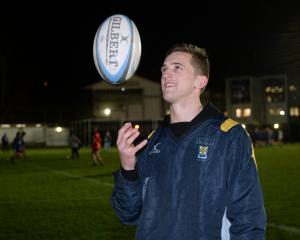 University first five-eighth Michael Williams at club training at Logan Park last night. Photo:...
