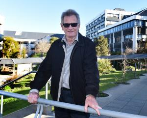 Otago Polytechnic chief executive at the site where a new trades and engineering building will be...