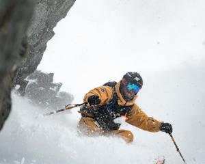 A skier beat the early morning rush to enjoy fresh snow at The Remarkables yesterday Photo: The...