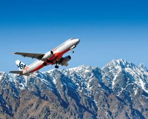 A Jetstar plane takes off out of Queenstown. Photo: Supplied