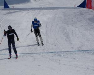 Wanaka teenager Ben Richards trails winner Oliver Davies, of Great Britain, in the quarterfinal...