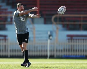 Ryan Crotty at All Blacks training. Photo: Getty Images