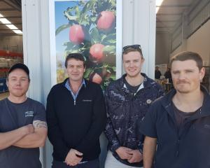 Keen to establish a young growers discussion group are (from left) Waka Paul, Grant McKay, Jono...