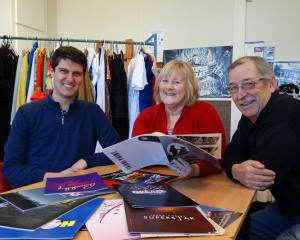 Taieri Musical Society members (from left) vice-president Blair Hughson, Ovation show director...