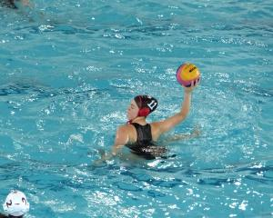 Columba College pupil Sophie Gaudin played in the Canterbury under-18 water polo team at the Pan...