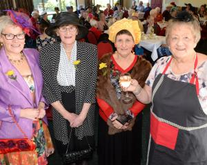 Hyacinth Bucket lookalikes (from left) Marianne Sherer, Avro Carman, Carol Partington and Thelma...