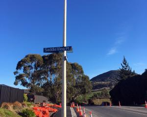 Concerns have been raised about a street light on a Fairfield footpath. Photo: Shawn McAvinue