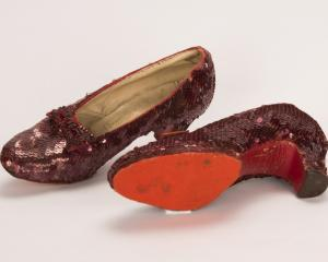The slippers featured in the classic 1939 film The Wizard of Oz. Photo: Reuters