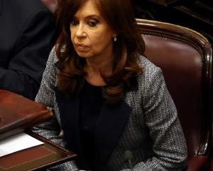 Former Argentine President and senator Cristina Fernandez. Photo: Reuters.
