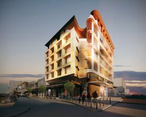 An artist's impression of the planned new Richardson Group's building on the corner of Esk and...