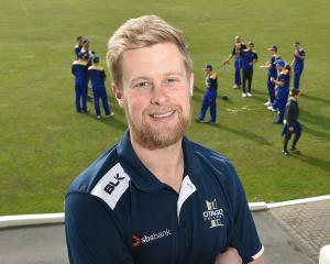 Otago Cricket Association talent, development and pathways manager Adam Miles watches the Volts...