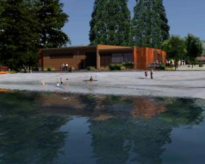 An artist's impression of the proposed watersports facility on the shore of Lake Wanaka. Image...
