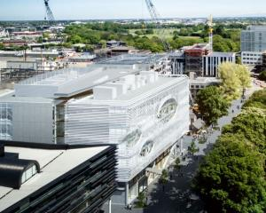 An artist's impression of the new University of Otago building to be built in Christchurch. IMAGE...