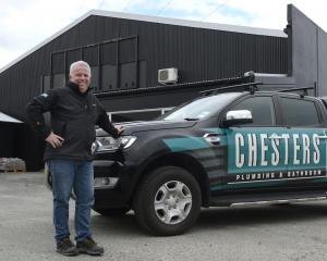 Dunedin branch manager Gareth Woodhouse, of Chesters Plumbing & Bathroom Centre, at the Orari...