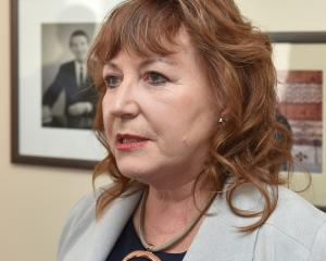 Clare Curran fronts media in Dunedin after being booted from Cabinet. Photo: Gregor Richardson