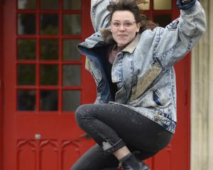 Dark Matter dancer Leah Carrell outside Allen Hall Theatre. PHOTO: GERARD O'BRIEN