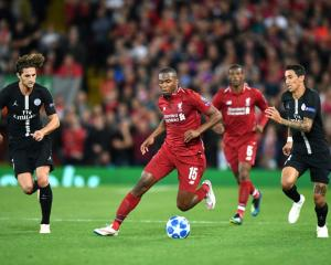 Daniel Sturridge in action for Liverpool against PSG this morning. Photo: Getty Images
