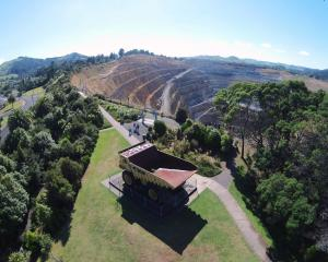 Oceana Gold's Waihi mine on the edge of Waihi township. Photo: Supplied