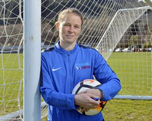 New Football South referee development manager Lindsey Robinson at Logan Park yesterday. PHOTO:...