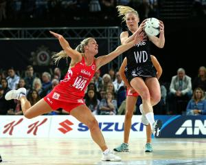 The returning Silver Ferns captain Laura Langman (right) couldn't save the team from yet another...